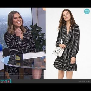 Michael Kors Dot Crepe Ruffled Dress- LIKE NEW